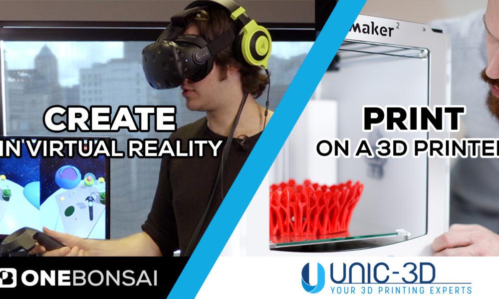 Nouveau ! Créez en Réalité Virtuelle et imprimez en 3D!