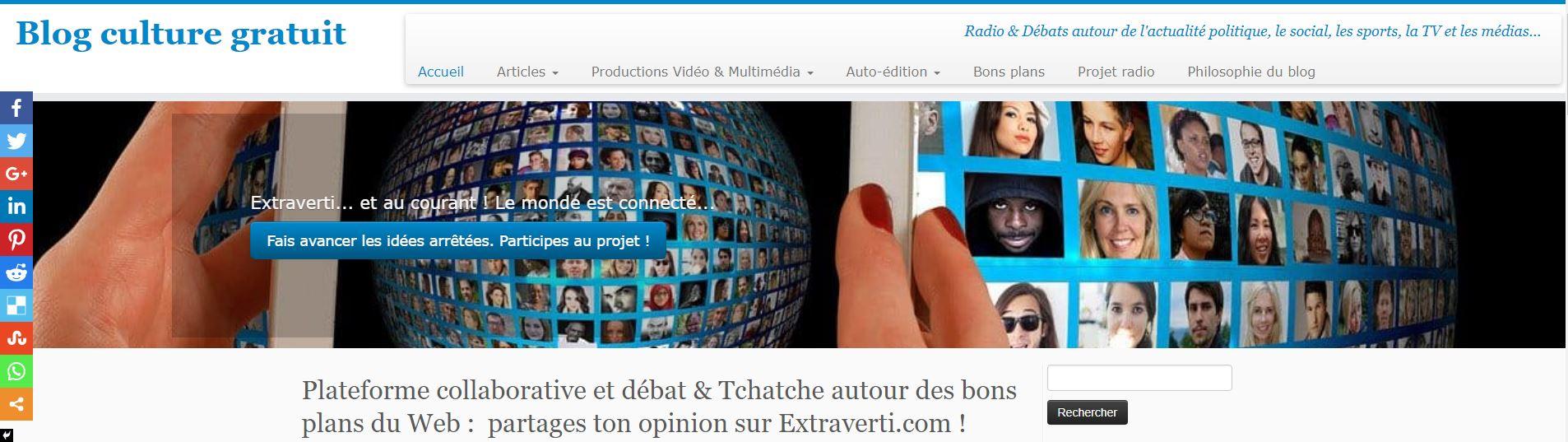 Extraverti.com : le blog ouvert au débat